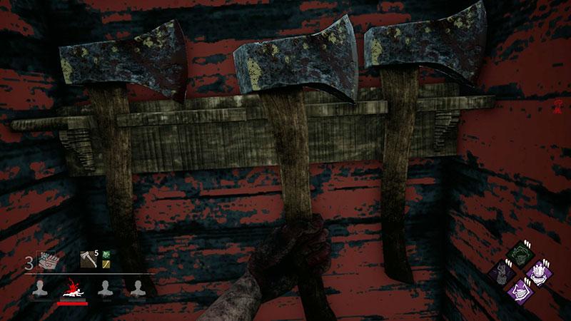 投げ斧はロッカーで補充できる
